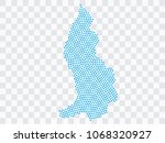 abstract blue map of... | Shutterstock .eps vector #1068320927