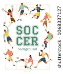 football soccer players and... | Shutterstock .eps vector #1068337127