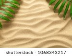summer background with green... | Shutterstock . vector #1068343217