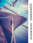 retro styled industrial ship... | Shutterstock . vector #1068346055