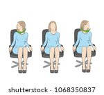 exercises for the head and neck ... | Shutterstock .eps vector #1068350837