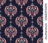 seamless pattern based on... | Shutterstock .eps vector #1068355694