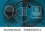 machine learning and artificial ... | Shutterstock .eps vector #1068356411