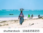 diani beach  mombasa  kenya  ... | Shutterstock . vector #1068358355