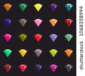set with crystals  | Shutterstock . vector #1068358994