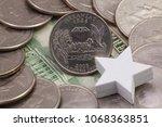 a quarter of arkansas  quarters ...   Shutterstock . vector #1068363851