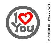 modern i love you lettering...   Shutterstock .eps vector #1068367145