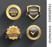 badge   seal design   Shutterstock .eps vector #1068368561
