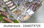 aerial bird eye view of a...   Shutterstock . vector #1068375725