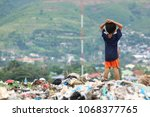 the young boy stands to the top ... | Shutterstock . vector #1068377765