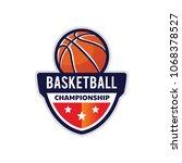 basketball logo  american logo... | Shutterstock .eps vector #1068378527