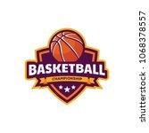 basketball logo  american logo... | Shutterstock .eps vector #1068378557