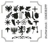 Set Of Various Heraldic...