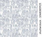 seamless pattern of fantasy... | Shutterstock . vector #1068385925