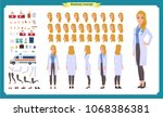 female doctor character... | Shutterstock .eps vector #1068386381