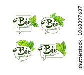 bio product  doodle organic... | Shutterstock .eps vector #1068397637