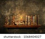 Old Vintage Books On A Bookshelf