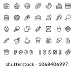food hand drawn icon design... | Shutterstock .eps vector #1068406997