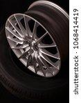 brand new vehicle rims made... | Shutterstock . vector #1068414419