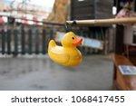 rubber duck on a fairground...   Shutterstock . vector #1068417455