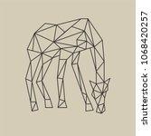 origami polygonal line style... | Shutterstock .eps vector #1068420257