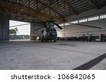 OVAR, PORTUGAL - JULY 04: Netherland's Chinook CH-47D on the hangar during the multinational helicopter exercise Hot Blade 2012 on july 04, 2012 in Ovar, Portugal. - stock photo