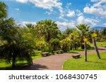madeira botanical garden view ... | Shutterstock . vector #1068430745