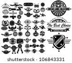 Stock vector mega set of vintage label collection 106843331