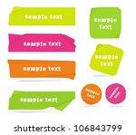 modern neon color vector banners | Shutterstock .eps vector #106843799