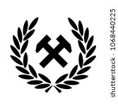 working class vector logo black ... | Shutterstock .eps vector #1068440225