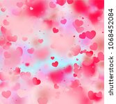 hearts falling background. st.... | Shutterstock .eps vector #1068452084