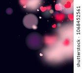 hearts random background. st....   Shutterstock .eps vector #1068452561