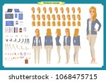 young woman  casual clothes.... | Shutterstock .eps vector #1068475715