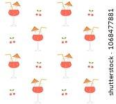 cute summer cocktails seamless...   Shutterstock .eps vector #1068477881
