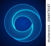 mobius strip ring sacred... | Shutterstock .eps vector #1068478187
