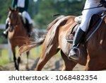 horse in motion  jockey on... | Shutterstock . vector #1068482354