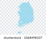 abstract blue map of south... | Shutterstock .eps vector #1068498107