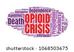 opioid crisis word cloud... | Shutterstock . vector #1068503675