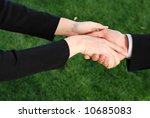 business partners are chaking... | Shutterstock . vector #10685083