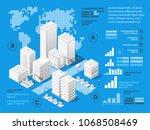 vector isometric urban... | Shutterstock .eps vector #1068508469