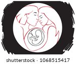 illustration in a circle family ... | Shutterstock .eps vector #1068515417