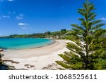 amazing view to small paradise... | Shutterstock . vector #1068525611