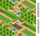 isometric vector nature rural... | Shutterstock .eps vector #1068529319