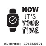 hand drawn watches and text.... | Shutterstock .eps vector #1068530801