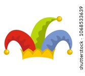 humor jester icon. flat... | Shutterstock .eps vector #1068533639