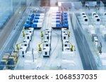 robotic machine tool in... | Shutterstock . vector #1068537035