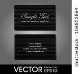 premium business card   Shutterstock .eps vector #106853864