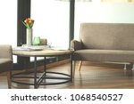 waiting room for customers | Shutterstock . vector #1068540527