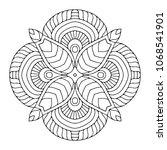vector arabesque ornament | Shutterstock .eps vector #1068541901