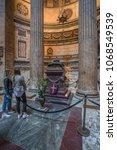 pantheon basilica  rome  italy...   Shutterstock . vector #1068549539